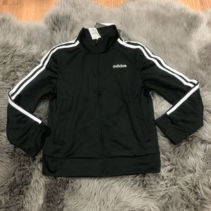 Adidas Boys' Track Jacket: Black (PM1066)